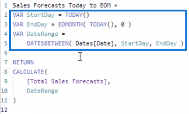 CRM forecast
