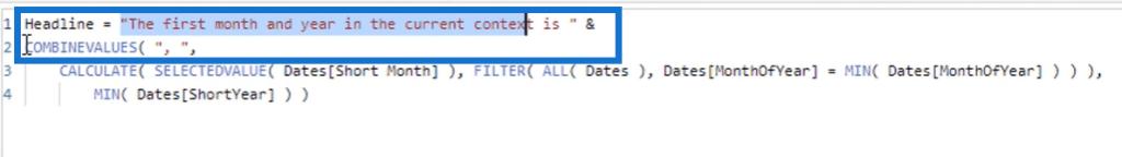 combine values DAX