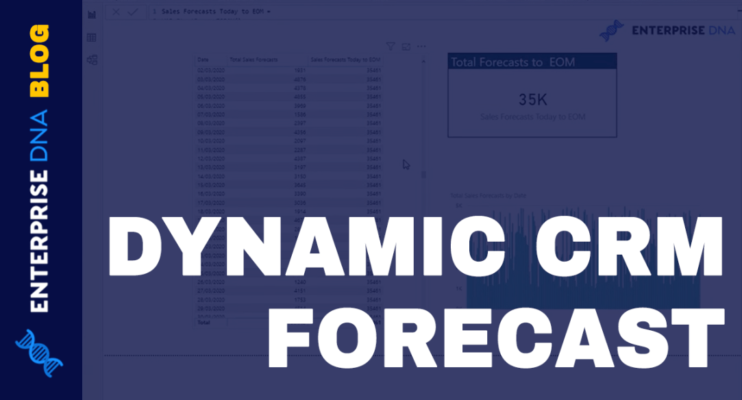 Calculate Total CRM Forecasts From Today Until End Of Month