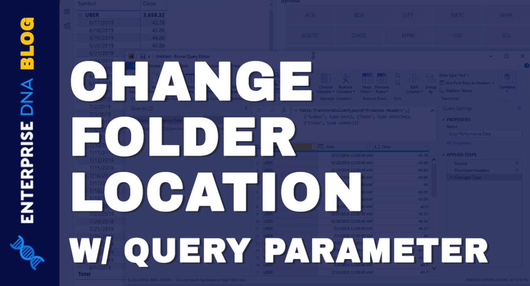 Changing File Location Using A Query Parameter In Power BI