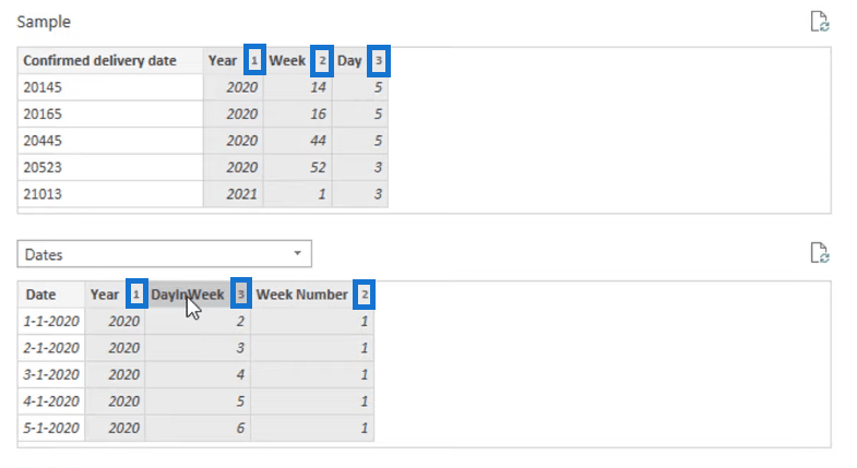 pairing columns to get a date value