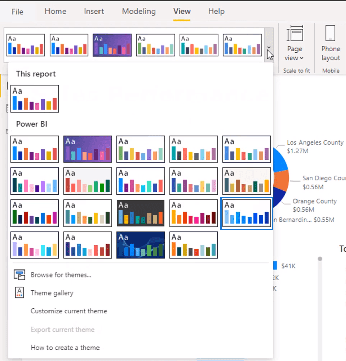 color themes in power bi