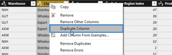 duplicating column for Power BI Query transformation