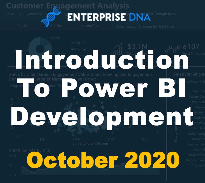 Introduction To Power BI Development  - October 2020 - Enterprise DNA