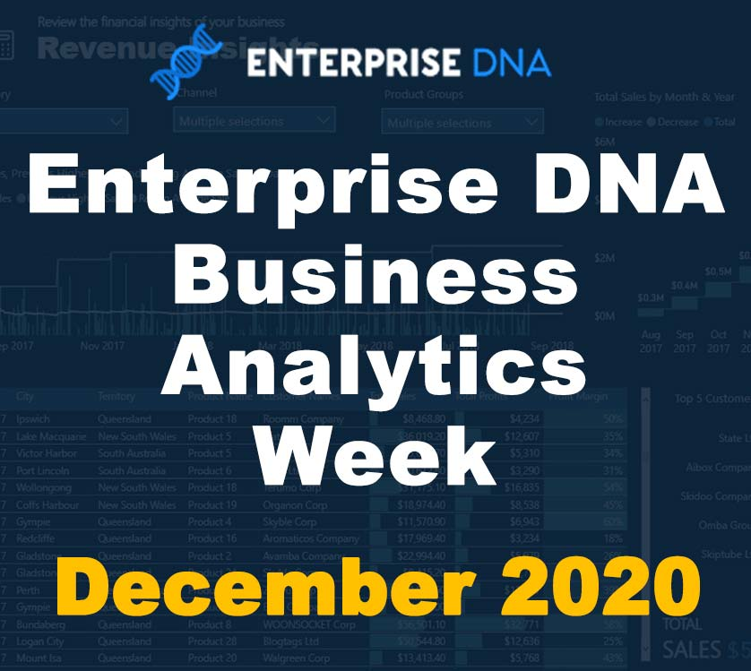 Business Analytics Week - December 2020 - Enterprise DNA