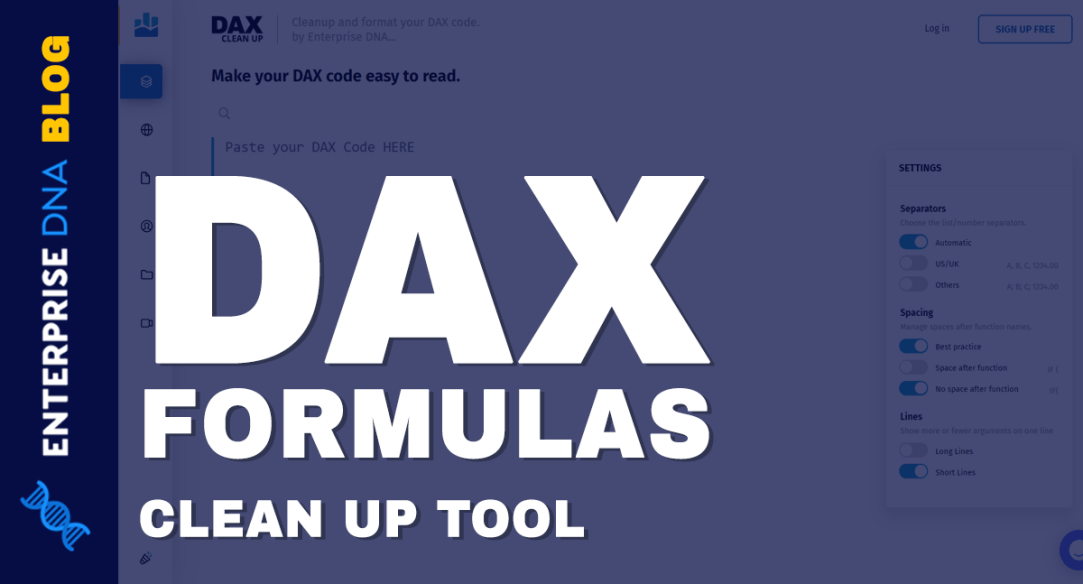 DAX Formulas Clean Up Tool