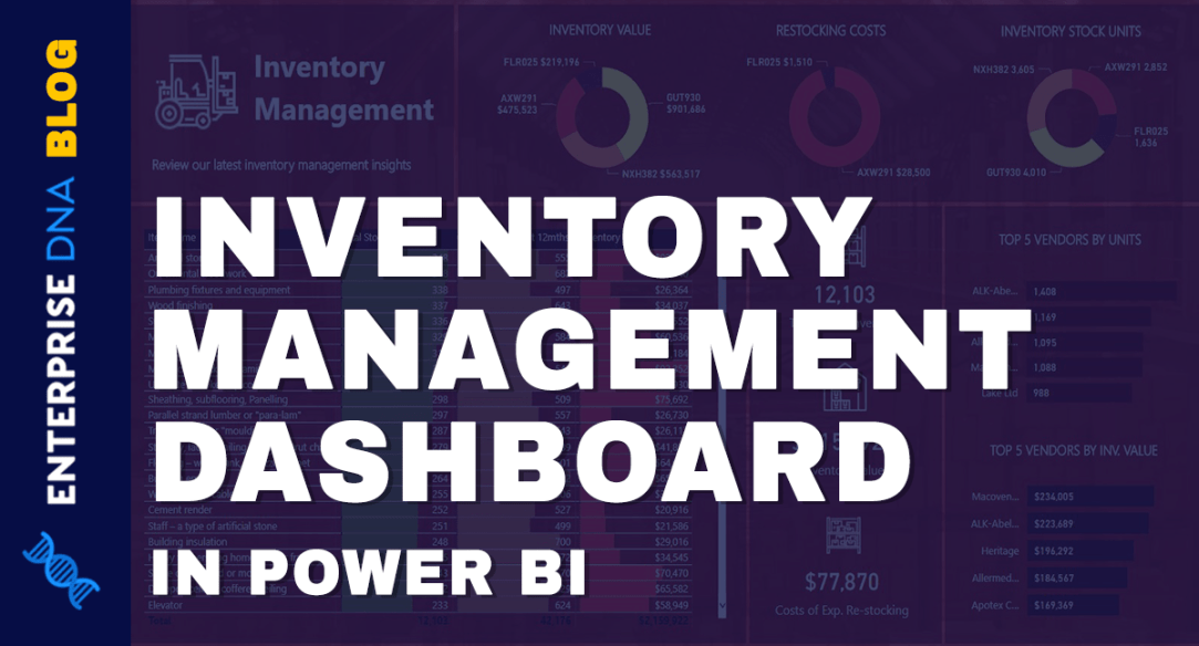 Inventory Management Dashboard In Power BI