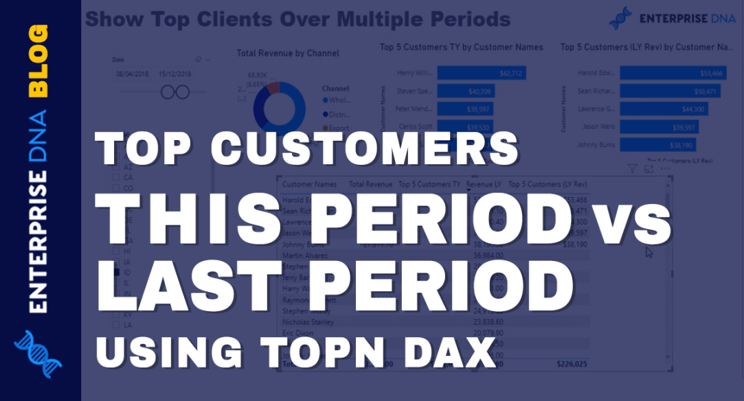 TOPN DAX To Showcase Top Customers This Period vs Last Period