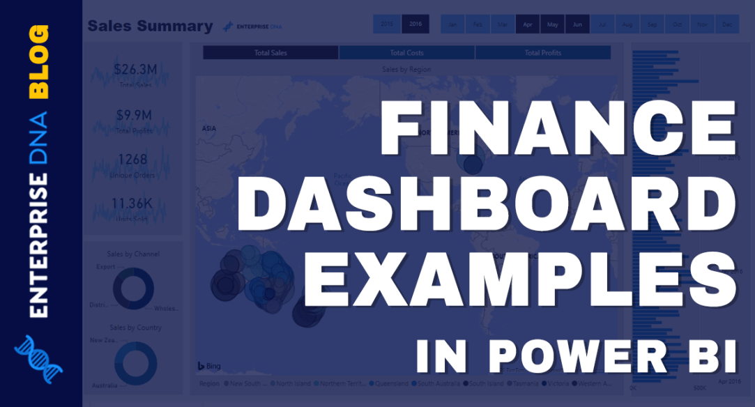 Power BI Finance Dashboard Examples