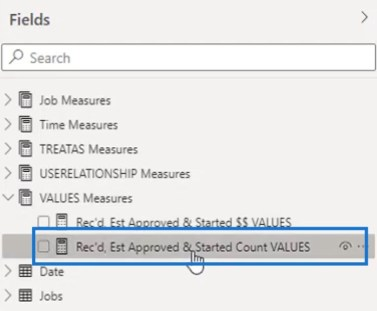 Job Count Measure using VALUES Function (DAX)