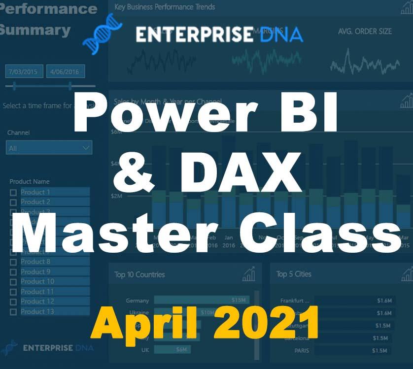 Power BI & DAX Master Class - Enterprise DNA