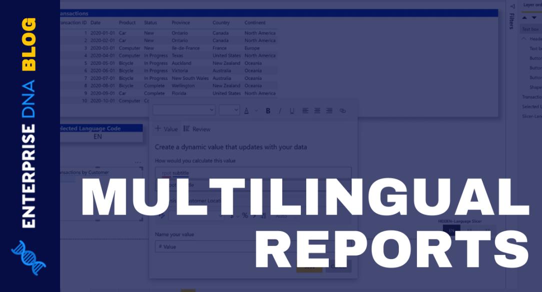 Create A Multilingual Power BI Report
