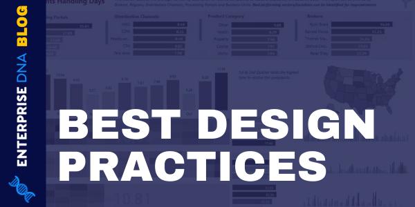 Dashboard In Power BI- Best Design Practices