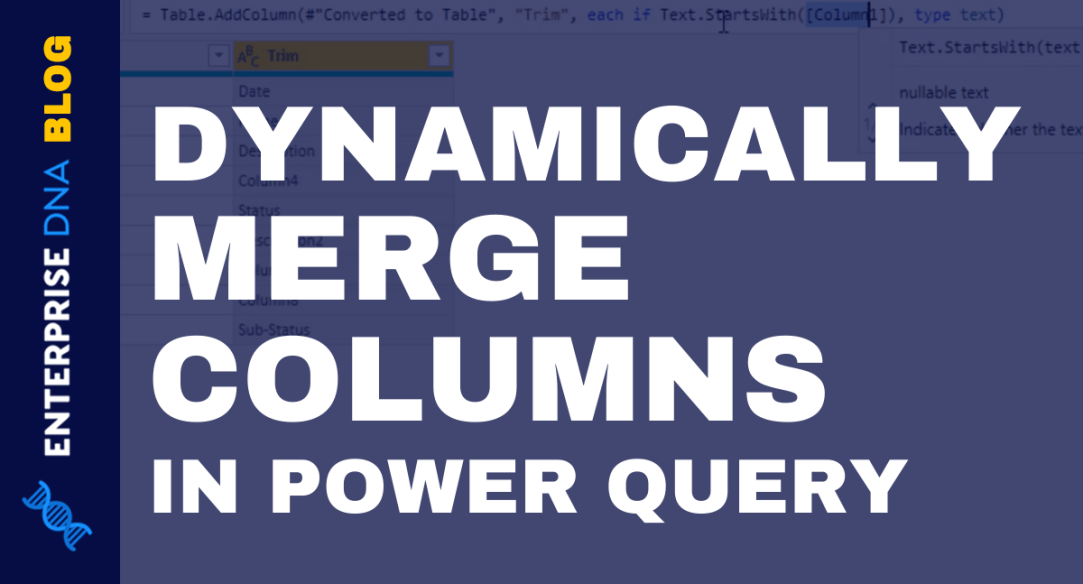 Power Query Table- How To Dynamically Merge Columns