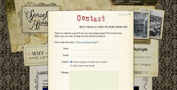 50 Seriously Awesome and Creative Contact Forms