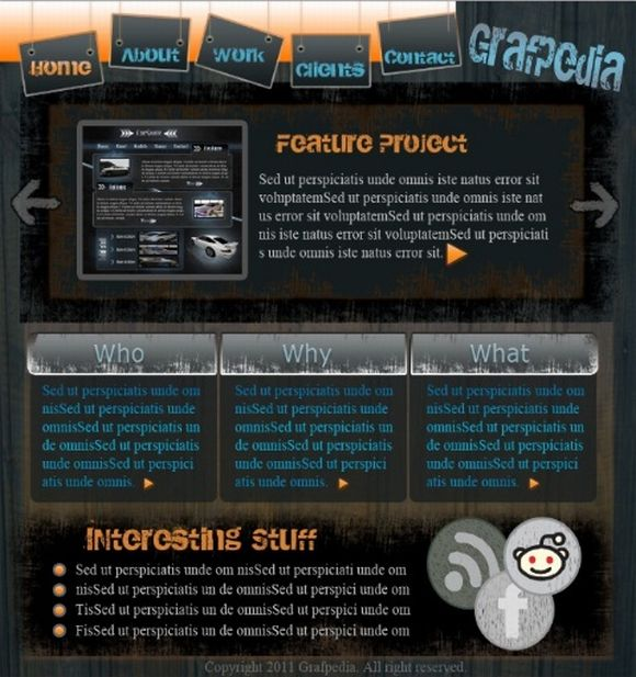 Learn how to create a Grunge Portfolio Layout