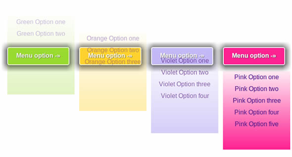 Sliding Menu Buttons Using CSS3 & jQuery