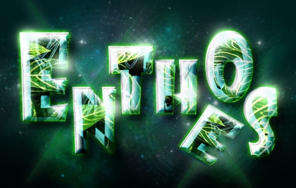 Glossy Text Effect in Photoshop