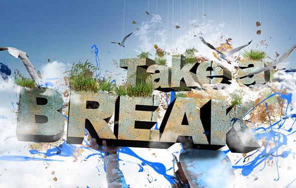 Create 3D Text Composition