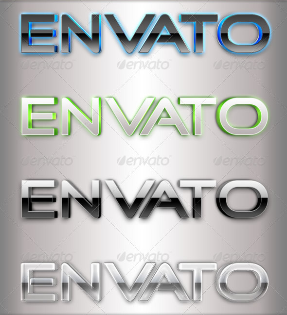 Premium 3D Text Styles