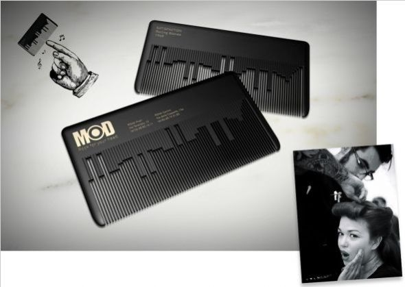 MODhair: Musical Comb Business card