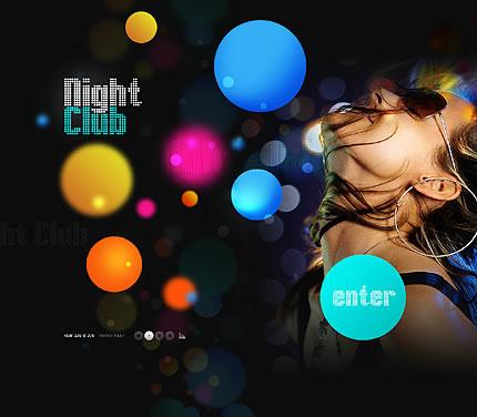 Night Club Flash Website