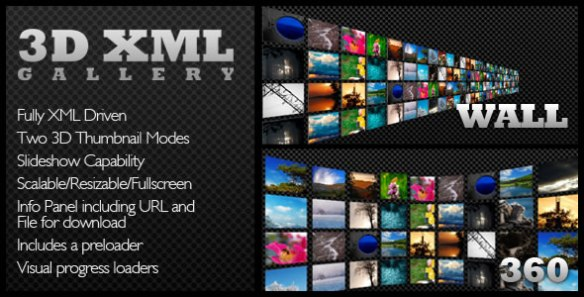 Scalable XML Driven 3D Image/Product Gallery