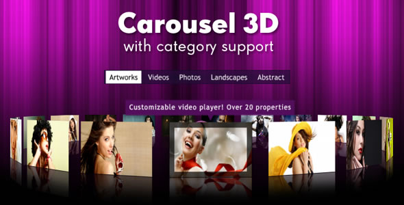 Real 3D Carousel with category support