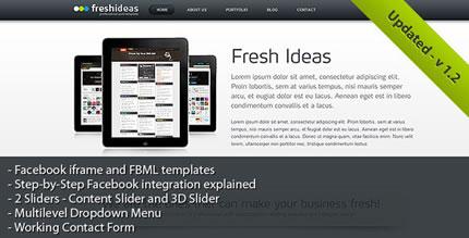 FreshIdeas HTML CSS Template + Facebook template