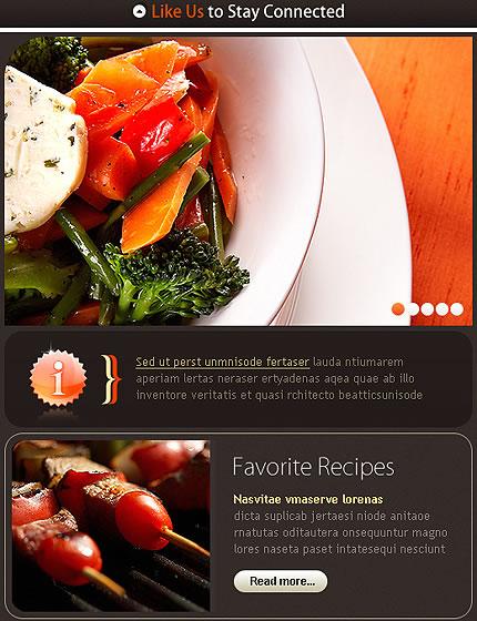 Gourmet Restaurant Facebook Template