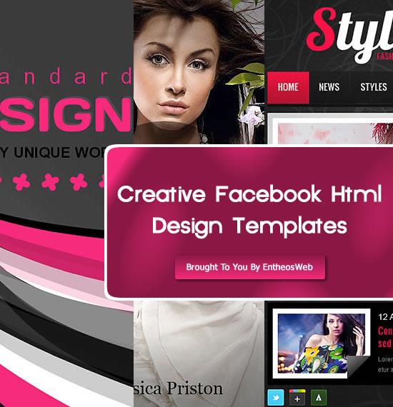 Creative Facebook Html Design Templates
