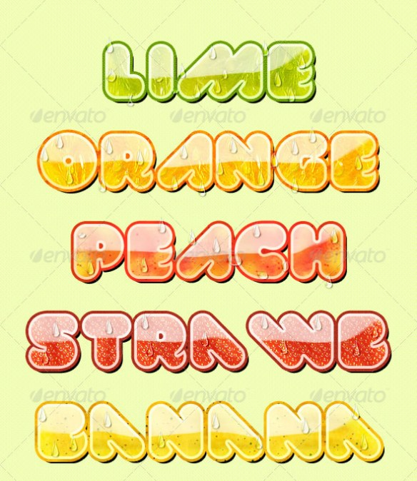 Fruity Text Styles