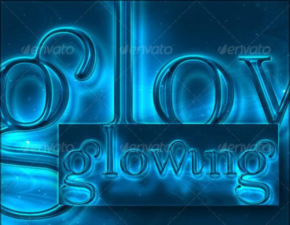 Glowing Light Photoshop Text Effect
