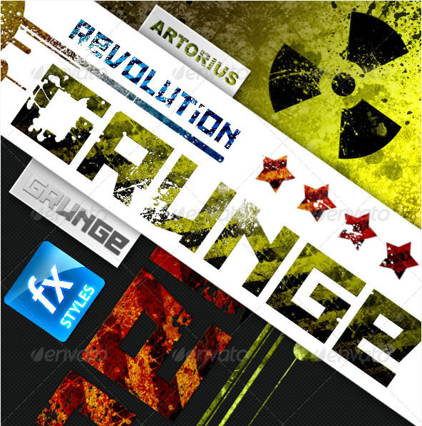 Grunge Revolution - Text Effects