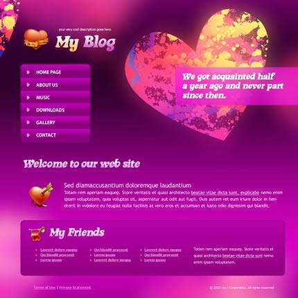 Heart Beat CSS Template