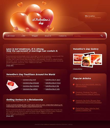 Valentine's Day Joomla Template