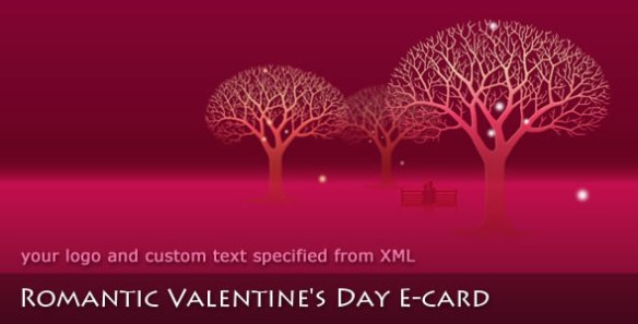 Romantic Valentine's Day E-card