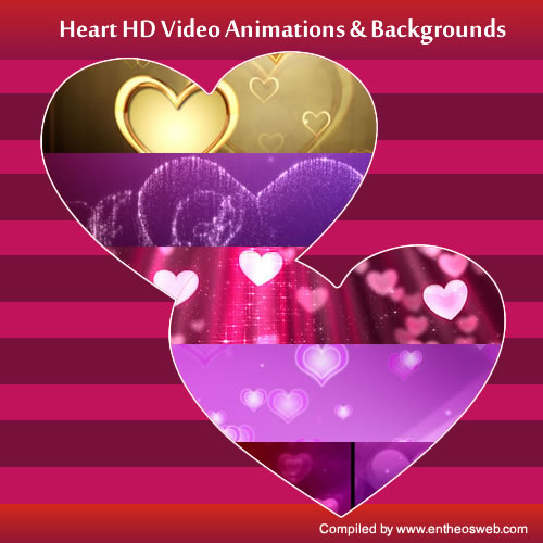 Best Heart HD Video Animations & Backgrounds for Valentines Day or Weddings