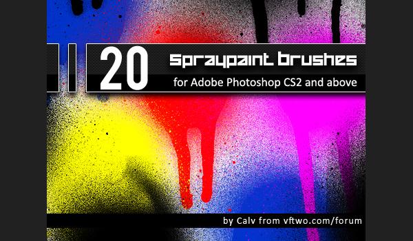 "20 ""Spraypaint"" Brushes"