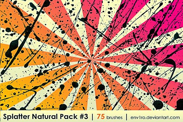 Splatter Natural Pack 3
