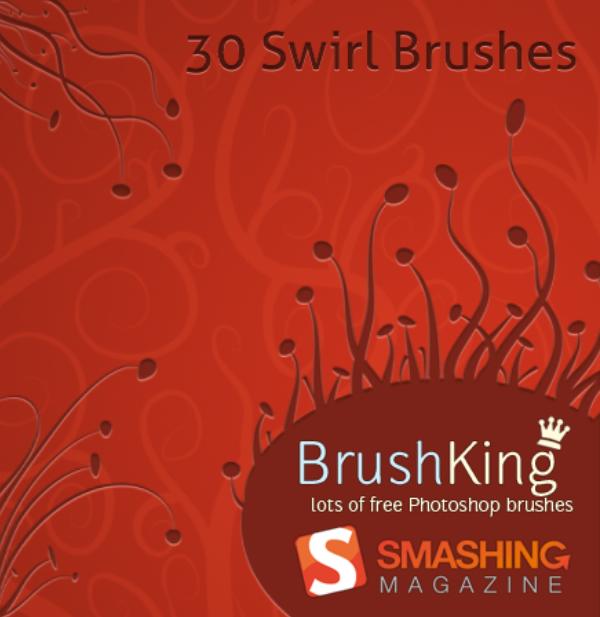 30 Free Photoshop Swirl Brushes