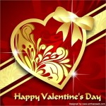 Free Red & Gold Heart Vector Download
