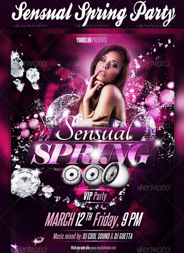 Sensual Spring Party Flyer
