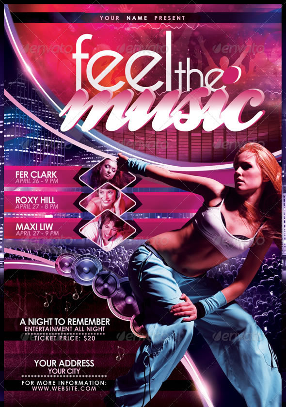 Feel The Music Flyer Template