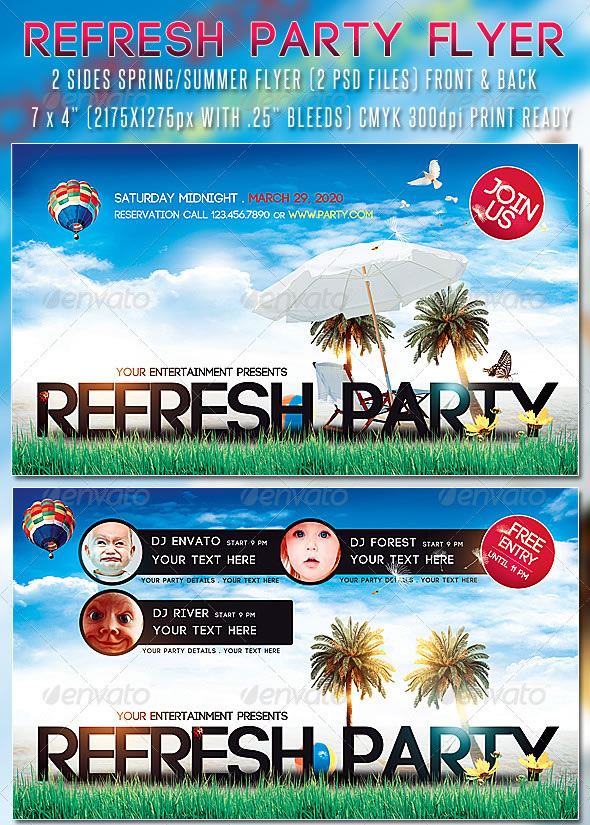 Refresh Party Flyer - Front & Back