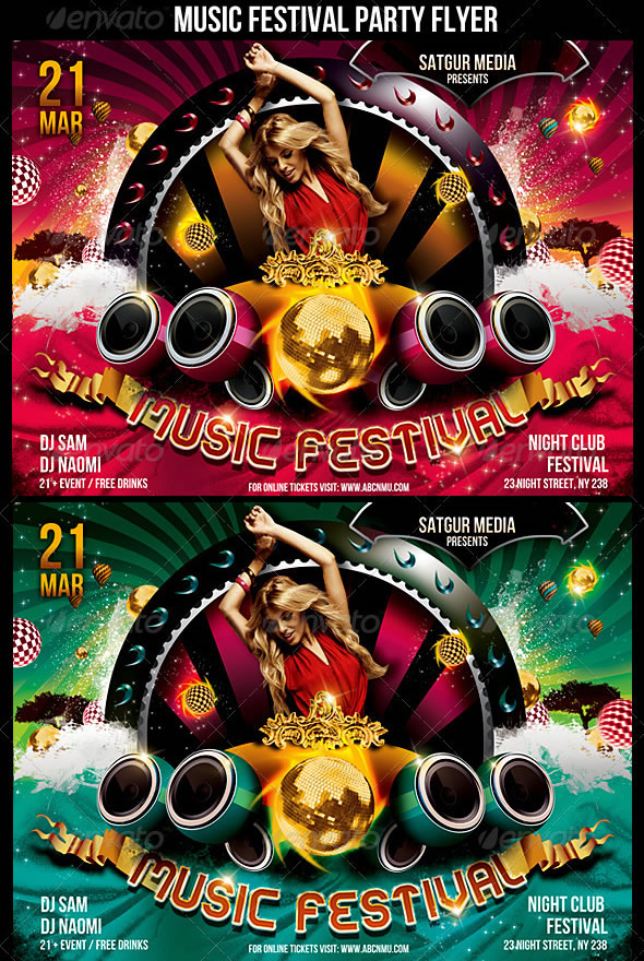 Music Festival Dance Party Flyer