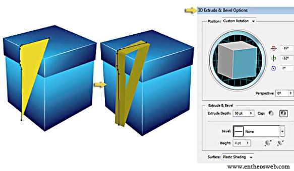 3D Gift Box Tutorial in Illustrator