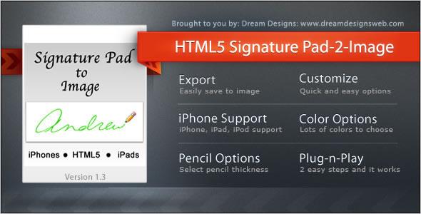 HTML5 Signature Pad to Image