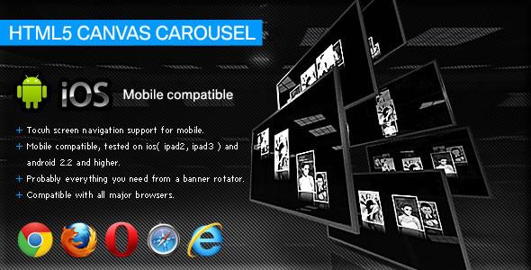 HTML5 Canvas Carousel