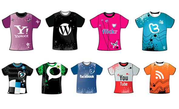 Hot Grunge T-Shirt Social Icons